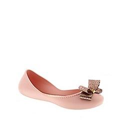 Zaxy - Light pink Zaxy Blush 'Start Glitter Bow' Women's Ballerina