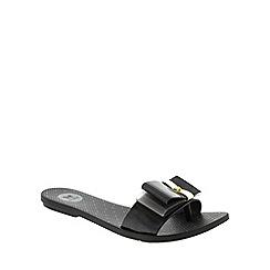 Zaxy - Black Zaxy Black 'Life Slide' Women's Toe Post Sandals
