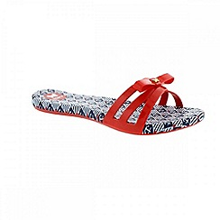 Zaxy - Red 'Like slide' ladies sandals