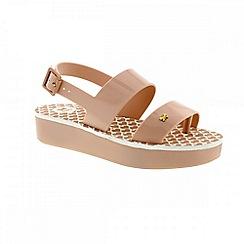 Zaxy - Beige nude 'Origami' ladies sandals