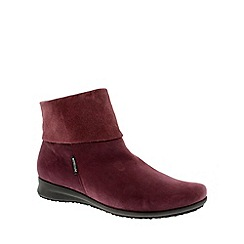 Mephisto - Red 'Fiducia' ladies ankle boots