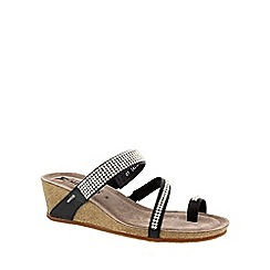 Mephisto - Black 'Milly' women's wedge sandals