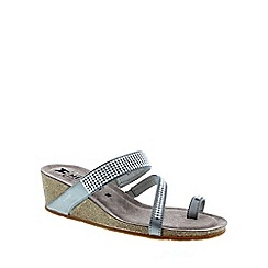 Mephisto - Silver 'Milly' women's wedge sandals