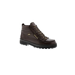 Mephisto - Dark brown 'Sierra gore' mens walking boots