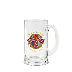 Help for Heroes - 10th anniversary glass tankard