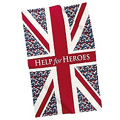 Help for Heroes - Floral Flag Tea Towel