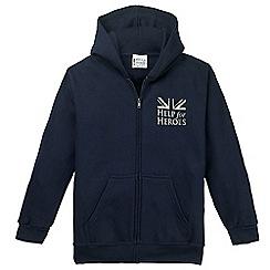 Help for Heroes - Children's navy zipped hoody