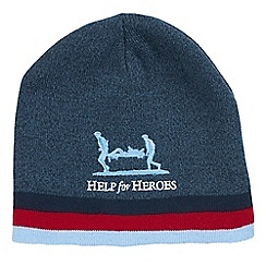 Help for Heroes - Navy marl beanie hat
