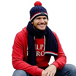 Help for Heroes - Navy Cable Knit Pom Pom Hat
