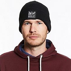 Help for Heroes - Black snowdon beanie
