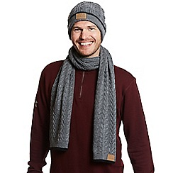 Help for Heroes - Grey pillar cable knit scarf