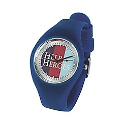 Help for Heroes - Navy casual watch with stripe face