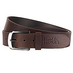 Help for Heroes - Brown Leather Adjustable Belt
