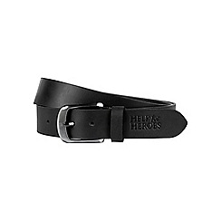 Help for Heroes - Black Leather Adjustable Belt