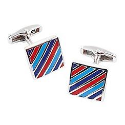 Help for Heroes - Diagonal tri stripe cufflinks