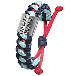 Help for Heroes - Tri colour cord bracelet