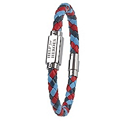Help for Heroes - Tri colour leather ID bar bracelet