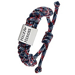 Help for Heroes - Tri colour cord pursuit bracelet