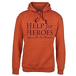 Help for Heroes - Burnt orange pull on hoody
