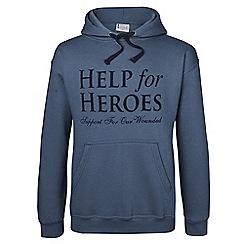 Help for Heroes - Denim blue pull on hoody
