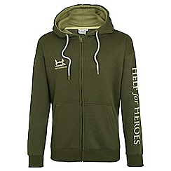 Help for Heroes - Green zipped hoody