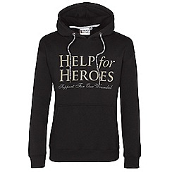 Help for Heroes - Black pull on hoody