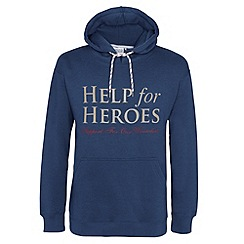 Help for Heroes - Petrol blue pull on hoody