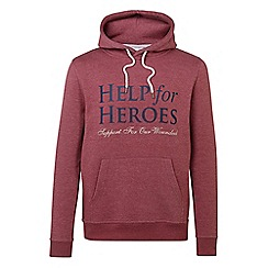 Help for Heroes - Red marl pull on hoody