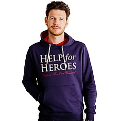 Help for Heroes - Navy and Red Pull on Hoody