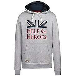 Help for Heroes - Light grey flag and logo hoody