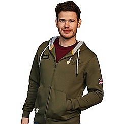 Help for Heroes - Classic military green zipped hoody