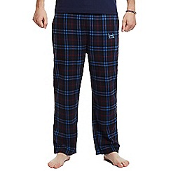 Help for Heroes - Navy checked pyjama bottoms