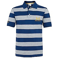 Help for Heroes - Grey and maritime blue stripe polo shirt