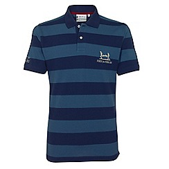 Help for Heroes - Petrol and navy blue stripe polo shirt