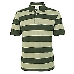 Help for Heroes - Sage and duffel green stripe polo shirt