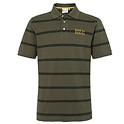 Help for Heroes - Pine Green stripe Polo Shirt