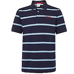 Help for Heroes - Navy and Dusk Blue Stripe Polo Shirt