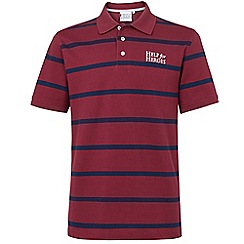 Help for Heroes - Burgundy and Navy Stripe Polo