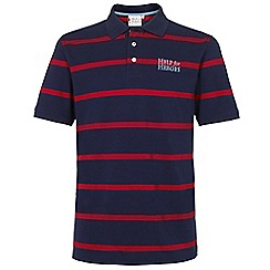 Help for Heroes - Navy and Apple Red Stripe Polo Shirt