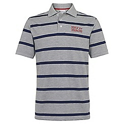 Help for Heroes - Grey Marl and Navy Stripe Polo Shirt