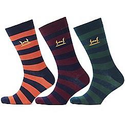 Help for Heroes - Pack of 3 navy stripe socks