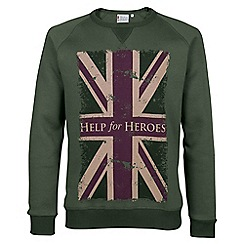 Help for Heroes - Moss green flag sweatshirt