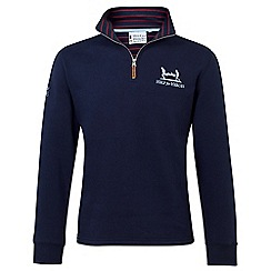 Help for Heroes - Navy quarter zip sweatshirt