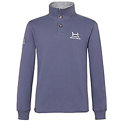 Help for Heroes - Fossil Blue Button Neck Sweatshirt