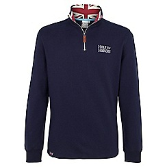 Help for Heroes - Navy sweatshirt with union jack collar