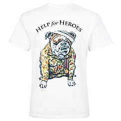 Help for Heroes - White Bulldog T-shirt