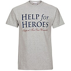Help for Heroes - Grey marl logo T-shirt