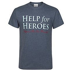 Help for Heroes - Navy marl logo T-shirt