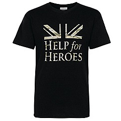 Help for Heroes - Black flag and logo T-shirt