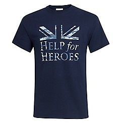 Help for Heroes - Navy blue camo flag t-shirt